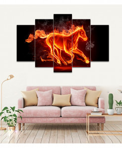 Artistic Fire 5 Piece HD Wall Frame SA-93