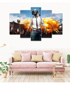 Pubg 5 Piece HD Wall Frame SA-92