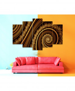 Fractal 5 Piece HD Wall Frame SA-90