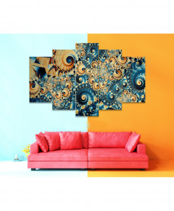 Fractal 5 Piece HD Wall Frame SA-89