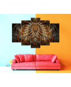 Fractal 5 Piece HD Wall Frame SA-86