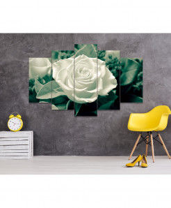 White Rose 5 Piece HD Wall Frame SA-82