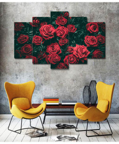 Red Rose 5 Piece HD Wall Frame SA-81