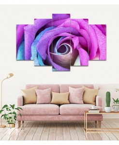 Multi Flower 5 Piece HD Wall Frame SA-78