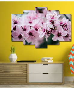 Blossom Flower 5 Piece HD Wall Frame SA-75