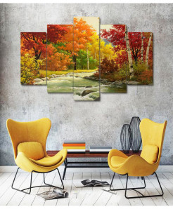River Painting 5 Piece HD Wall Frame SA-49