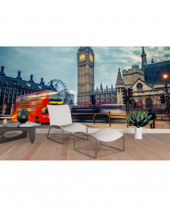 3D Big Ben Bus Wallpaper BNS-355