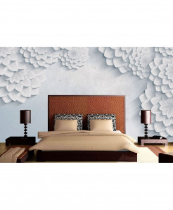 3D Abstract White Wallpaper BNS-350