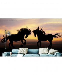 3D Black Horse Wallpaper BNS-345