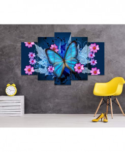 Butterfly 5 Piece HD Wall Frame SA-42