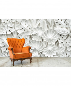 3D Marble Plants Wallpaper BNS-420