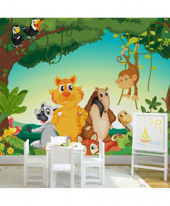 3D Jungle Animals Wallpaper BNS-407