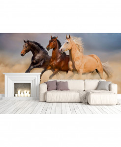 3D Herd Of Horse Wallpaper BNS-399