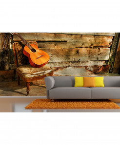 3D Guiter on Chair Wallpaper BNS-398