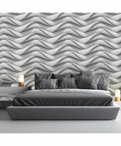 3D Curved Lines Wallpaper BNS-376