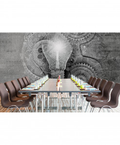 3D Creative Bulb Wallpaper BNS-374