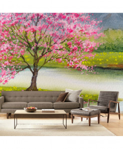 3D Cherry Blos Wallpaper BNS-367