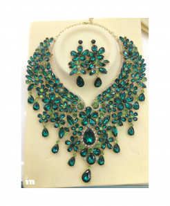YOUFIR Green Color Magnificent Jewelry Set