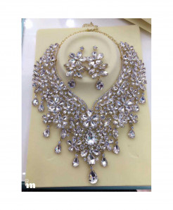 YOUFIR Golden White Color Magnificent Jewelry Set