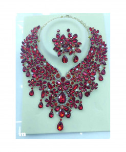 YOUFIR Red Color Magnificent Jewelry Set