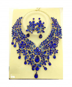 YOUFIR Blue Magnificent Multi Color Jewelry Set