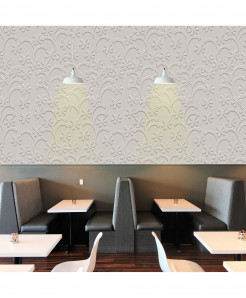 3D Off White Floral Wallpaper BNS-428
