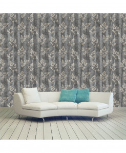 3D Planked Ferns Wallpaper BNS-437