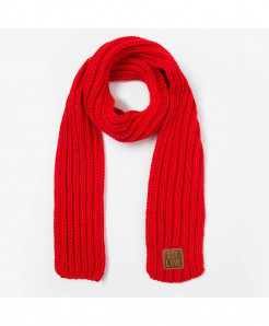 Peacesky Red Winter Knitting Wool Scarf