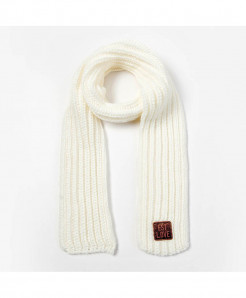 Peacesky White Winter Knitting Wool Scarf