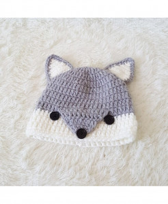 Cute Cartoon Fox Handmade Beanies Kids Winter Knitted Hats AT-1231