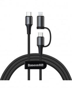 Baseus Type-C to Type-C and iPhone 2 in 1 Charging Cable