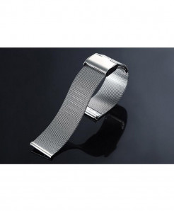 CRESTED Silver Milanese Stainless Steel Band For Apple Watch