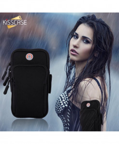 FLOVEME Black Armband For Universal Armband for iPhone