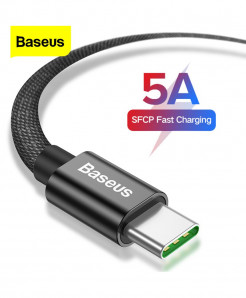 Baseus 5A 40W Fast Charging 2 meter Type-C Cable