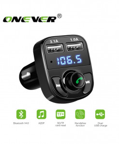 5 in 1 Bluetooth Transmitter Car Charger and Handsfree