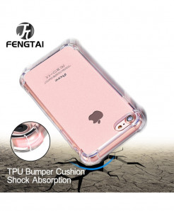 Shock Absorbing Thin Transparent iPhone Case