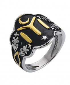Ottomans Seal Kayi Gold and Silver Color Ertugrul Men Ring