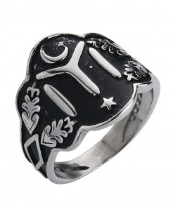 Ottomans Seal Kayi Silver Color Ertugrul Men Ring