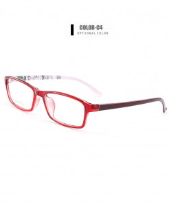 Gmei Optical Red Ultralight Flexible TR90 Optical Frame