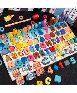 Kids Wooden Blocks Education Magnetic Stick Cognitive Magnetic Numbers And Alphabets Toy