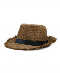 SHOWERSMILE Brown Straw Panama Beach Hat