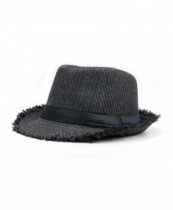 SHOWERSMILE Black Straw Panama Beach Hat