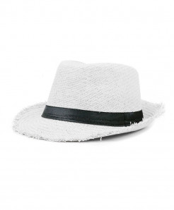 SHOWERSMILE White Straw Panama Beach Hat