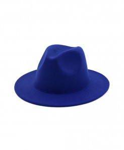 ltnshry Blue Fedoras Big Brim Hat