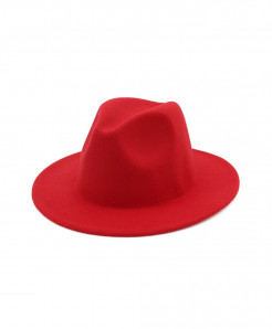 ltnshry Red Fedoras Big Brim Hat