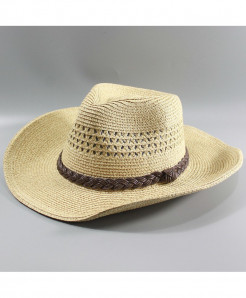 Hollow Out Straw Wide Brim Beach Foldable Hat