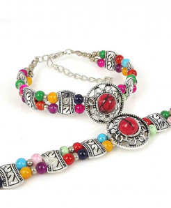 Multi Color Natural Stone Beads Bracelet