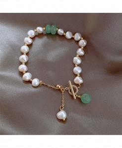 Freshwater Baroque Pearl Charms Bracelet