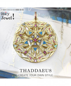 Thaddaeus 925 Sterling Silver Elaborate Cut Out Pendant