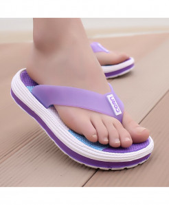 POLALI  Purple Casual Flip Flops Beach Slippers